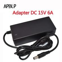 APBLP AC адаптер конвертер для DC 15 v 6A Питание балансировки Зарядное устройство для IMAX B6 B6MINI B6V2 и ноутбук/светодиодный/Динамик 5,5 мм * 2,5 мм