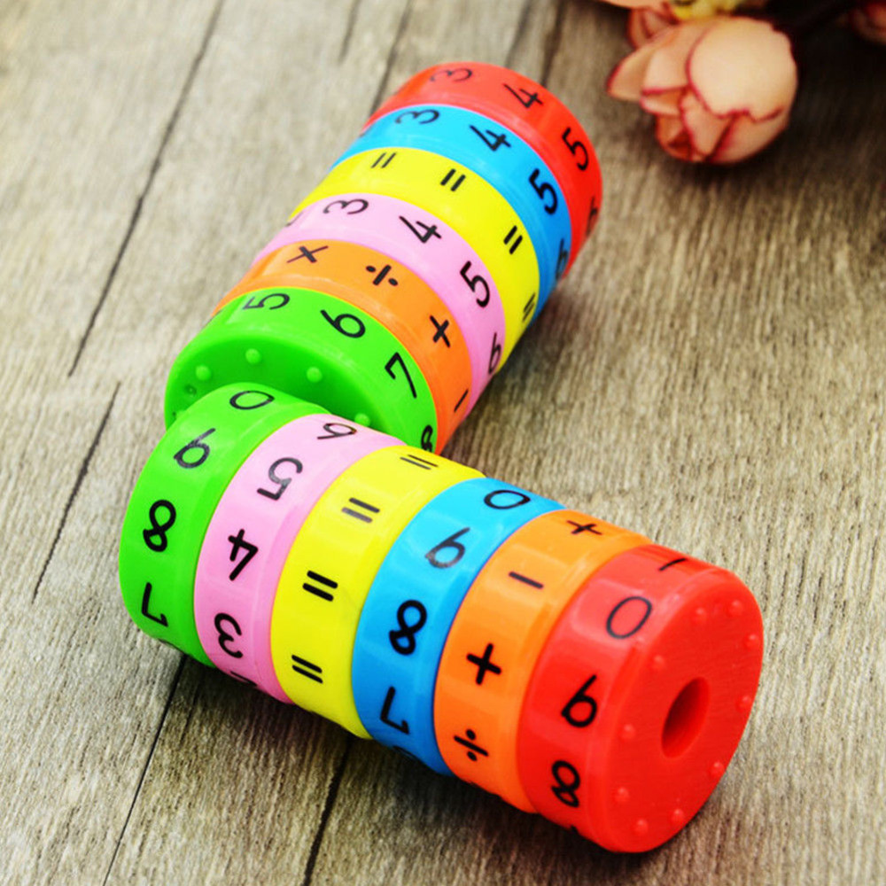 Math Toys Baby learn Educational montessori Stick Magnetic cylinder Puzzle Education Number Toys Calculate Game Learn Counting цена