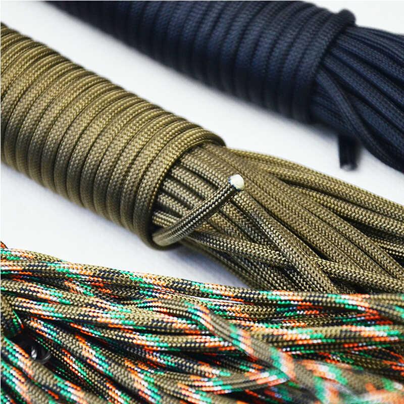 50 metrów. 2mm jeden stojak rdzenie Paracord dla surwiwalowa lina spadochroniarska smycz Camping wspinaczka Camping liny turystyka bielizny