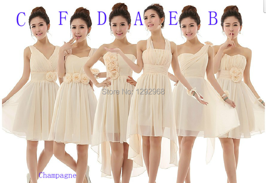 CX SHINE CUSTOM New wedding Mix short style mini bridesmaid dresses ...