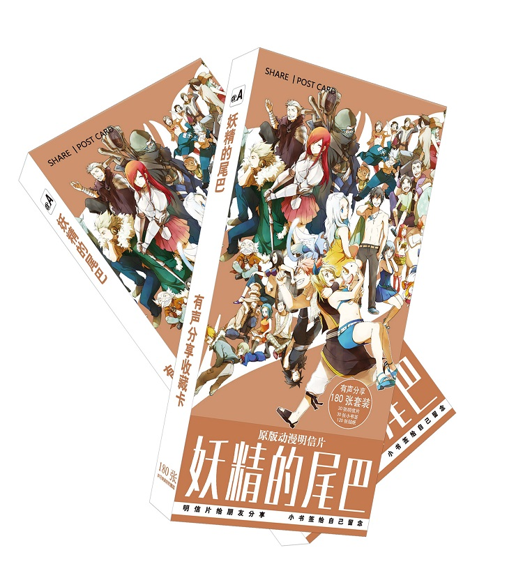180pcs/Set Anime Fairy Tail Paper Postcard/Greeting Card/Message Card/Christmas and New Year gifts 30pcs in one postcard take a walk on the go dubai arab emirates christmas postcards greeting birthday message cards 10 2x14 2cm