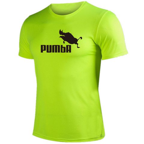 Quick dry fitness t shirts man Pumba summer t shirt short sleeve man tops tees male costume t-shirt cool breathable Tees Pakistan