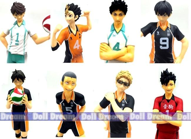 14-17cm original high quality Japanese anime figure haikyuu action figure kids toys for girls anime haikyuu high school volleyball