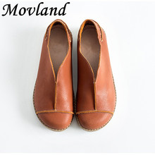 Hot selling,New 2016 Head layer wax cowhide pure handmade shoes,the retro art mori girl shoes,Women's casual shoes