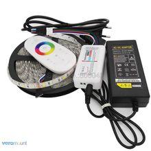 5m 12V 5050 RGBWW RGBW LED רצועת IP20 IP65 IP67 עמיד למים פס סט + 2.4G RGBW מרחוק בקר + DC12V 5A כוח מתאם סט