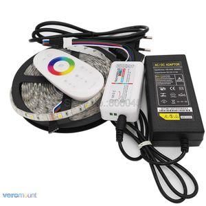 Image 1 - 5m 12V 5050 RGBWW RGBW LED רצועת IP20 IP65 IP67 עמיד למים פס סט + 2.4G RGBW מרחוק בקר + DC12V 5A כוח מתאם סט