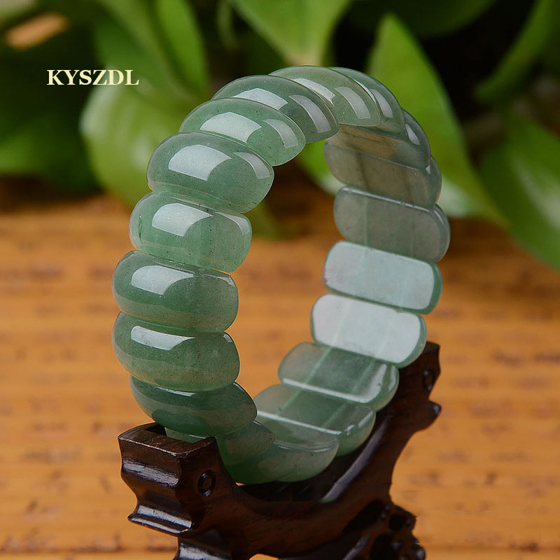 KYSZDL Natural Green Dongling yu/stone bracelet fashion crystal bracelet jewelry gift men and women