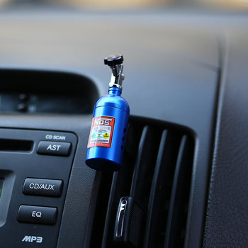 NOS Bottle Tank Car Air Freshener Perfume Clip JDM Tuning  NOS Keychain