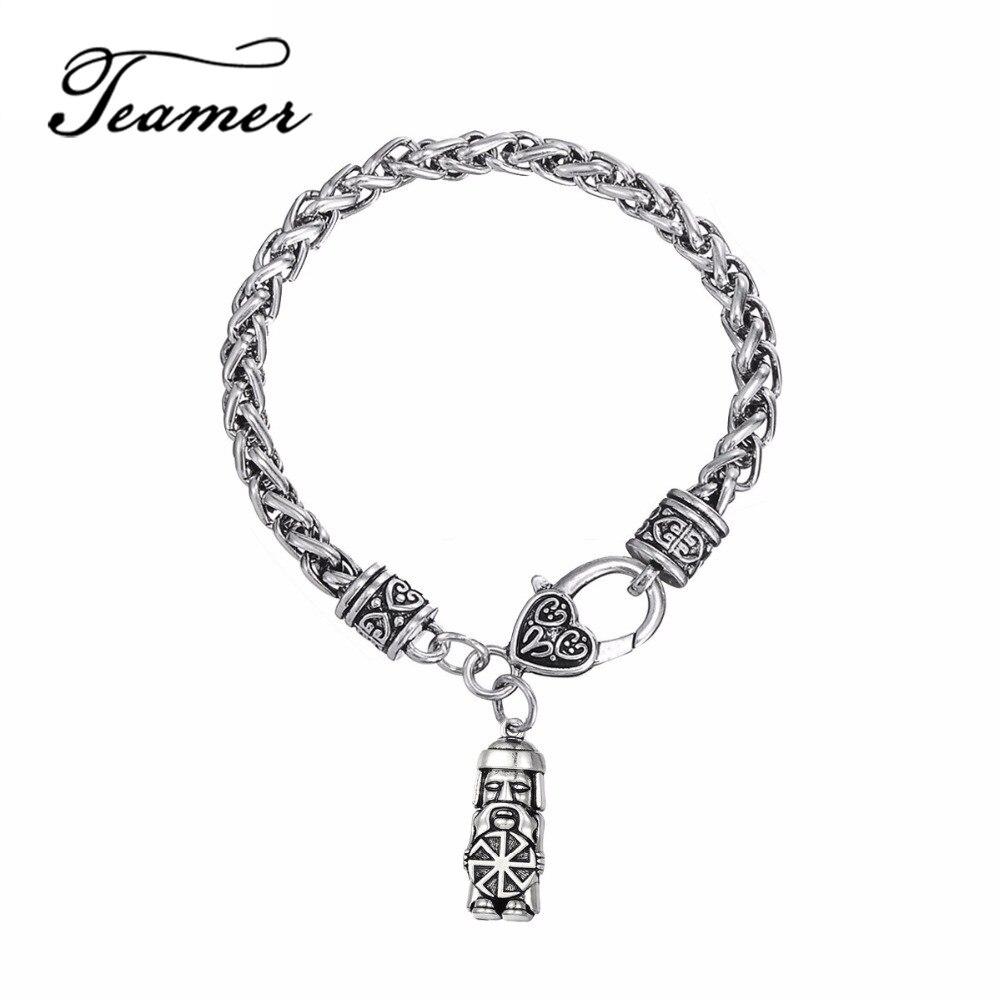 Teamer Slavic Pendant Domovoi Greybeard Male Bracelet Men Amulet Fashion Symbol Wicca Jewelry
