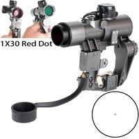 Ohhunt компактный 1X30 СВД Красный точка зрения Охота Прицелы прицел тактический CQB оптический прицел fit Тигр SKS Стиль боковое крепление