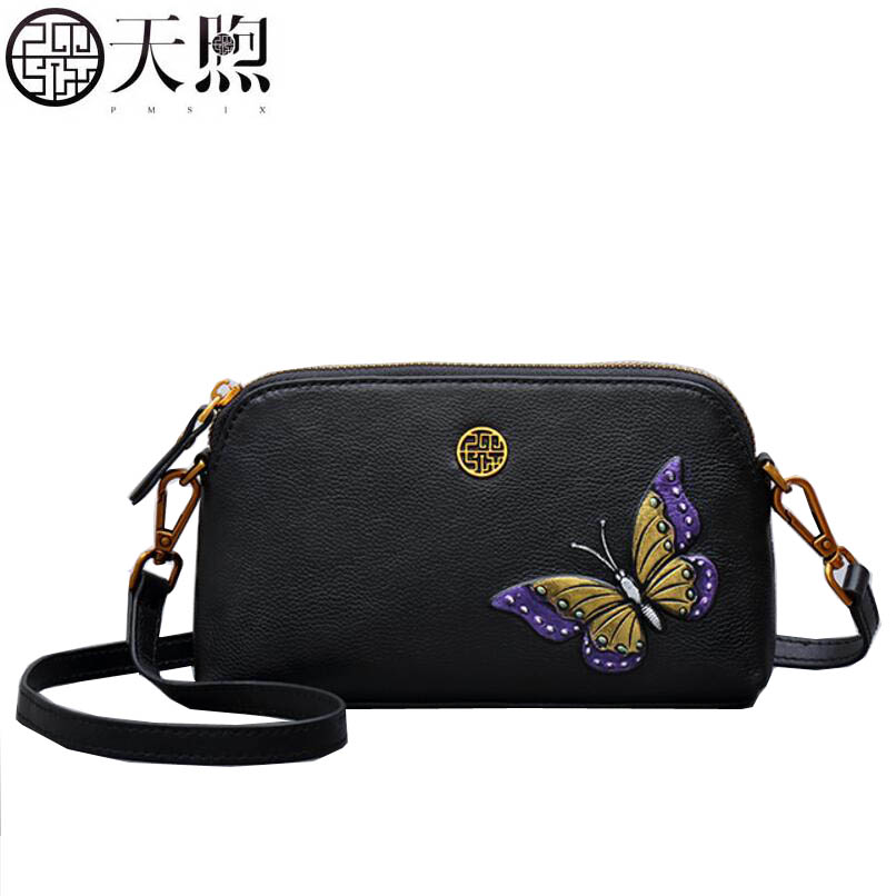 TMSIX 2017 New women bag famous brands Embossed butterfly fashion Leather art handbags women handbags shoulder bag tmsix 2017 new women leather bag famous brands fashion chains luxury print handbags tote women handbags shoulder small bag