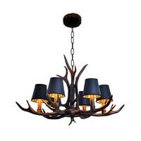 Novo país da américa resina preta lâmpada lustre antler novidade para sala de jantar moderna avize luminária luzes da sala estar|Lustres| |  -