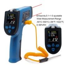 0-99% RH цифровой термометр измеритель влажности инфракрасный термометр гигрометр Измеритель температуры и влажности пирометр