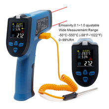 Infrared Thermometer Pyrometer Humidity Meter Digital Thermometer Non Contact Temperature Humidity Meter Single Double laser
