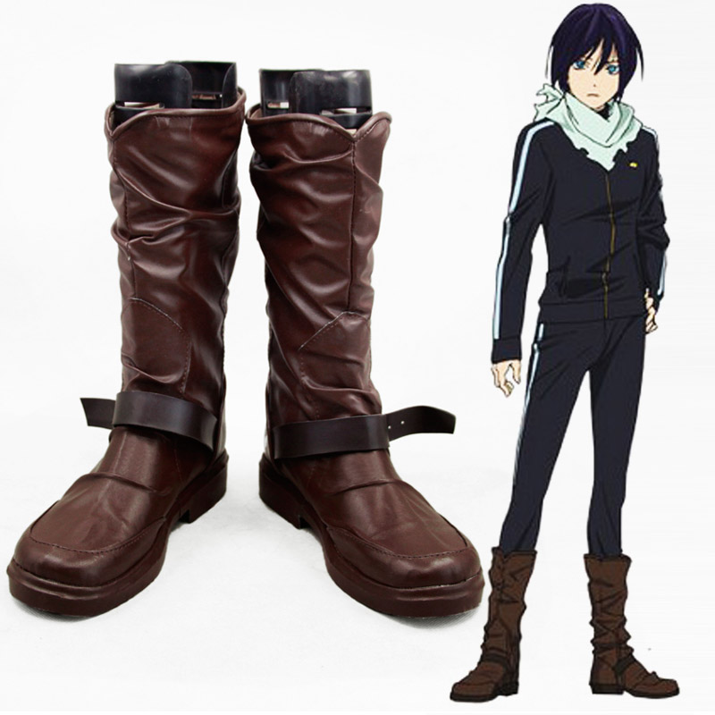 Anime Noragami Yato Cosplay Shoes Men Women Leather Boots