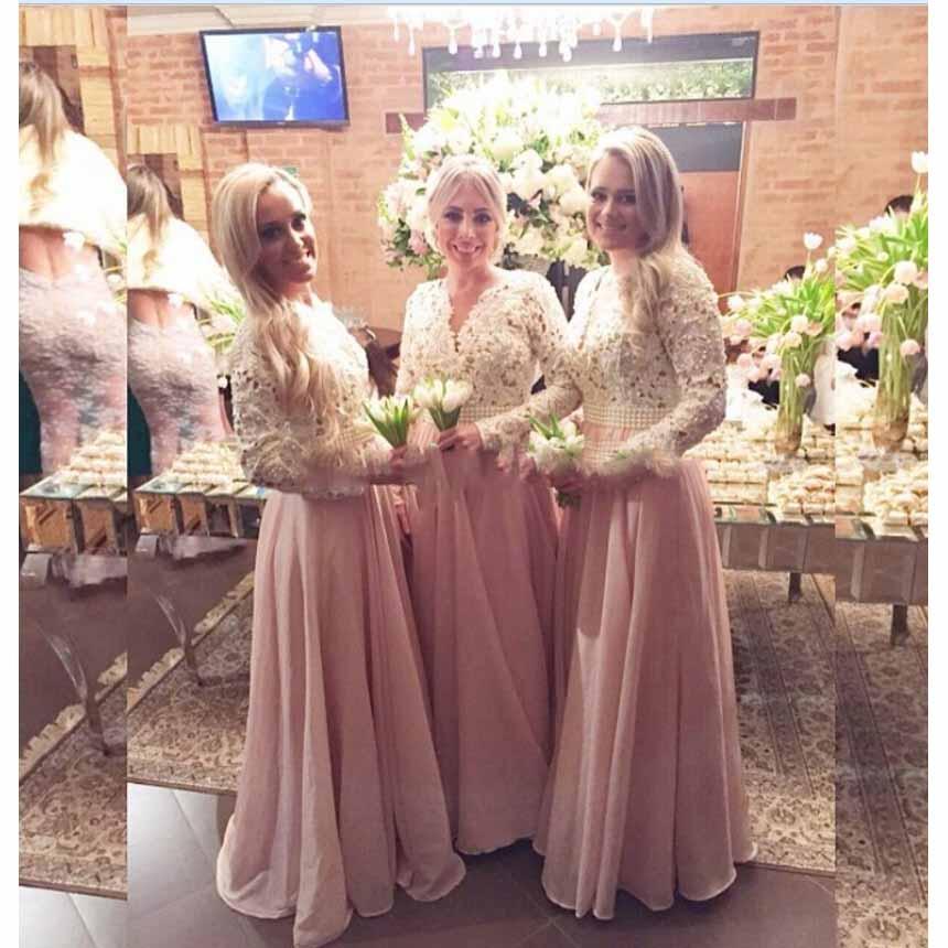 Long Sleeve Bridesmaid Dress – fashion dresses