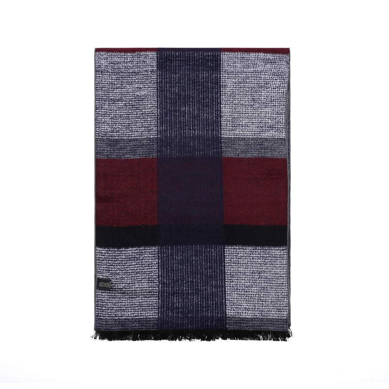 British Style Men Winter Scarf Wraps 100% Silk Brushed Warm Scarfs for Business Men 180x30cm Luxury Xmas Gifts