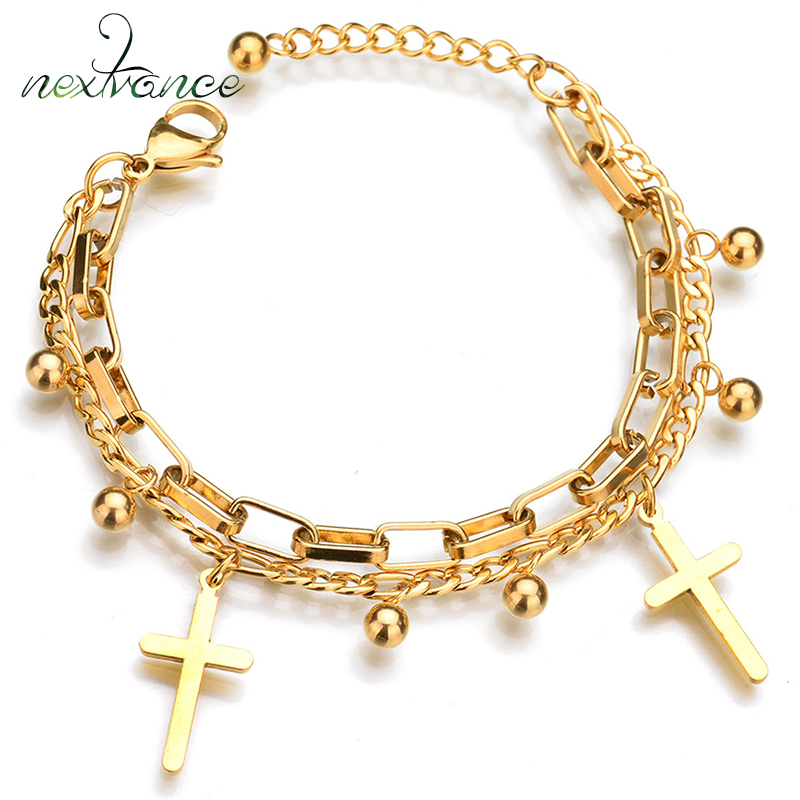 Religious Charm Bracelet: Aliexpress.com : Buy Nextvance Gold Cross Beads Charm