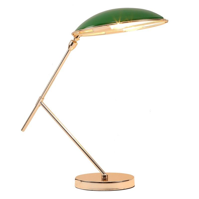 Lampe de bureau nordique poste moderne lampe de table créative en métal lampe de lecture 2 x E14 lampe à LED étude salon décoration art maison