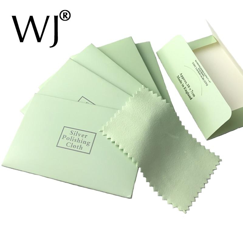 Качественная полировальная ткань 7*9 см для чистки ювелирных изделий, бархат из оленьей кожи, Стерлинговое серебро, золото, платина, драгоцен...