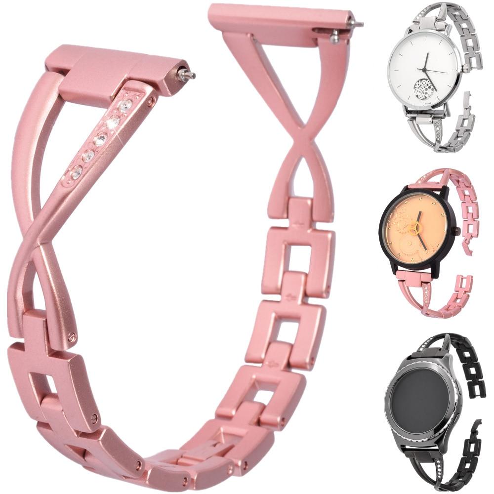 20mm Stainless steel Smart Watch band wrist strap Sport Metal bracelet Replace W