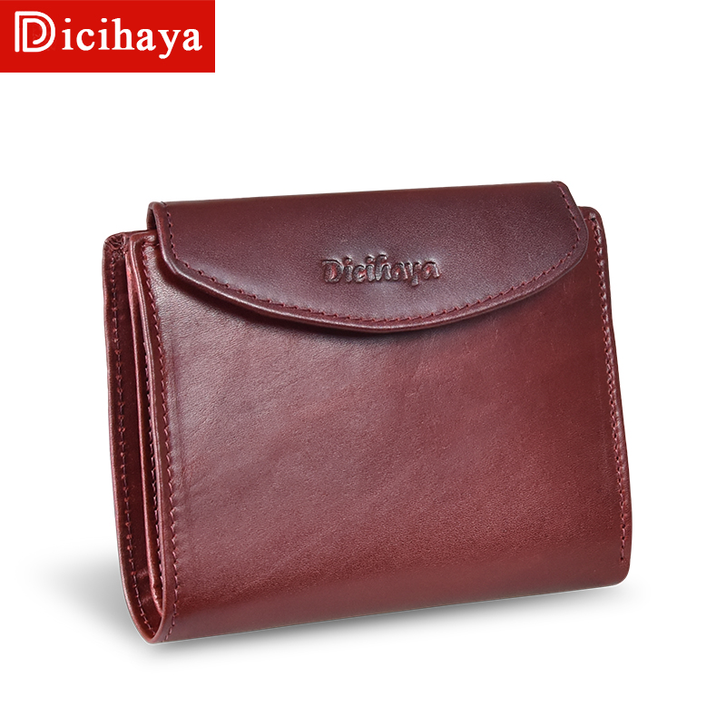 NEW Arrive Trend Genuine Leather Wallet Female Women Wallet Short Wallet Quality Coin Purse Women Button Purse With Zipper Purse