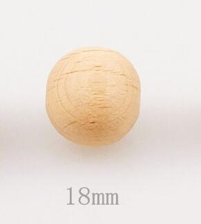 Let's make Wooden Teether Chew Beads 200pcs Round Beech Beads Nursing Necklace/Bracelet DIY Toys Baby Teether