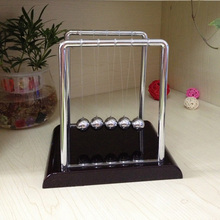 1 PC  Early Fun Educational Desk Toy Gift Newtons Cradle Steel Balance Ball Physics Science Pendulum Desk Decration P20