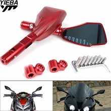 8MM 10MM Screws Motorcycle Rearview Mirrors Side Rear View Mirror For DUCATI Monster 600 696 796 Suzuki GSX-R600 GSXR 750 1000 недорого