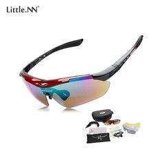 LittleNN Sunglasses UV400 Outdoor Sports Oculos Clismo Sunglasses MTB Fishing Goggles Eyewear 5 Lens