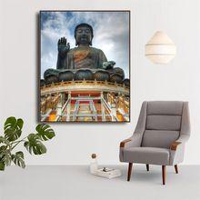 Статуя Будды Картина на холсте религиозная Настенная картина