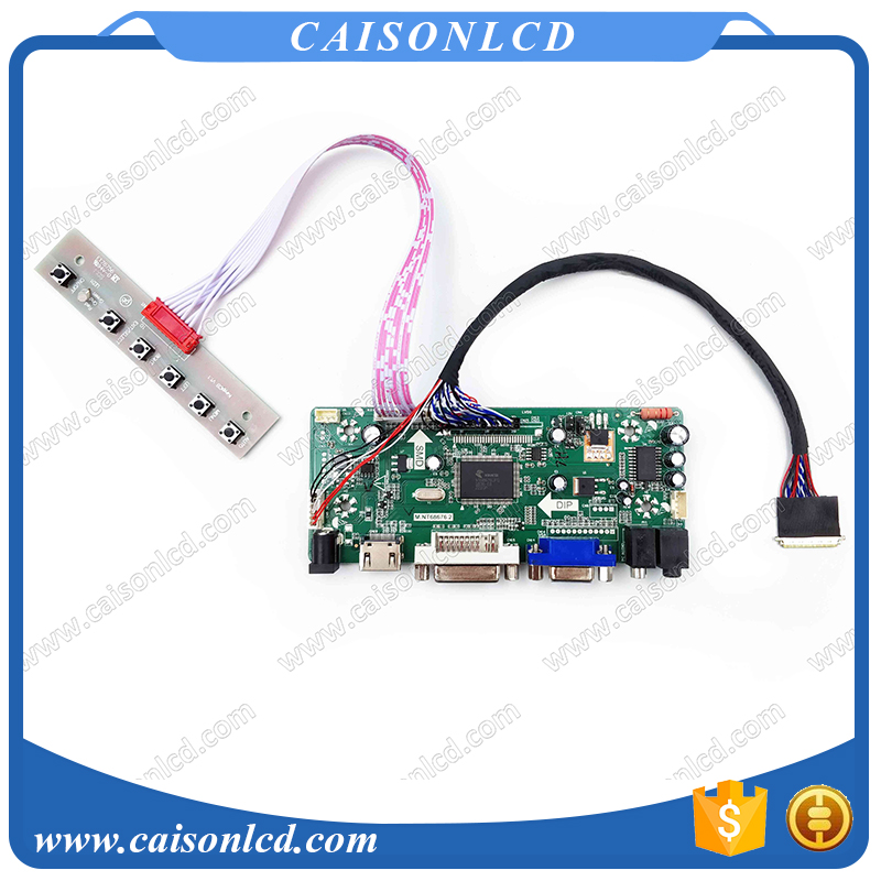 Free Shipping LCD LVDS Controller board with HDMI DVI VGA for 15.6