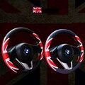 2 CORES respirável volante 38 CM covers Hubs Britânico 4 Estações de Corrida De couro Falso Preto Acessórios Do Carro