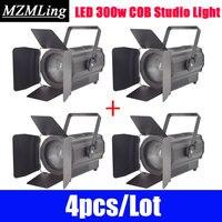 4pcs/Lot LED 300w COB White/Warm White Studio Light DMX512 Par Light Stage Light DJ /Bar /Party /Show Led Stage Machine