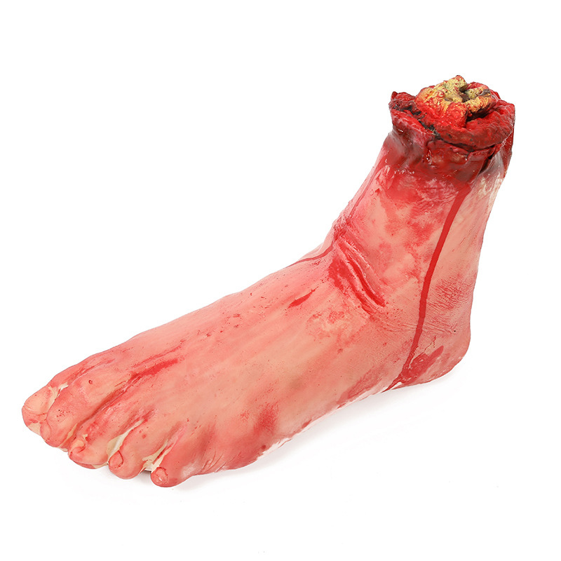 HTB12rVTarus3KVjSZKbq6xqkFXaM - Horror Halloween Props Bloody Hand Haunted Party Decoration Fake Hand Finger Leg Foot Heart Halloween House Decoration Supplies