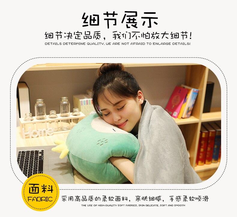 Cochilo Sofá Travesseiro Carro Ar Condicionado Cobertor Travesseiro 3 em 1