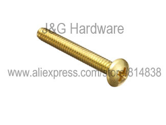 M4 Brass Machine Screw Pan Head Philips Drive