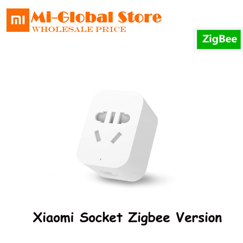 Galleria fotografica Original <font><b>Xiaomi</b></font> <font><b>Mi</b></font> Zigbee Smart Socket Plug WiFi APP Wireless Control Switches EU US AU Timer Charger Work with gateway