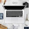 Versão euro francês alphabet silicone tampa do teclado para macbook air 13 pro 13 15 17 retina protector etiqueta filme