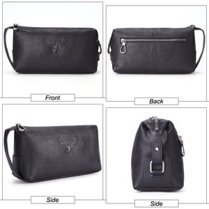 Image 3 - MISFITS 100% genuine leather men makeup bags high quality cow leather cosmetic bag travel casual toiletry case for male wash bag