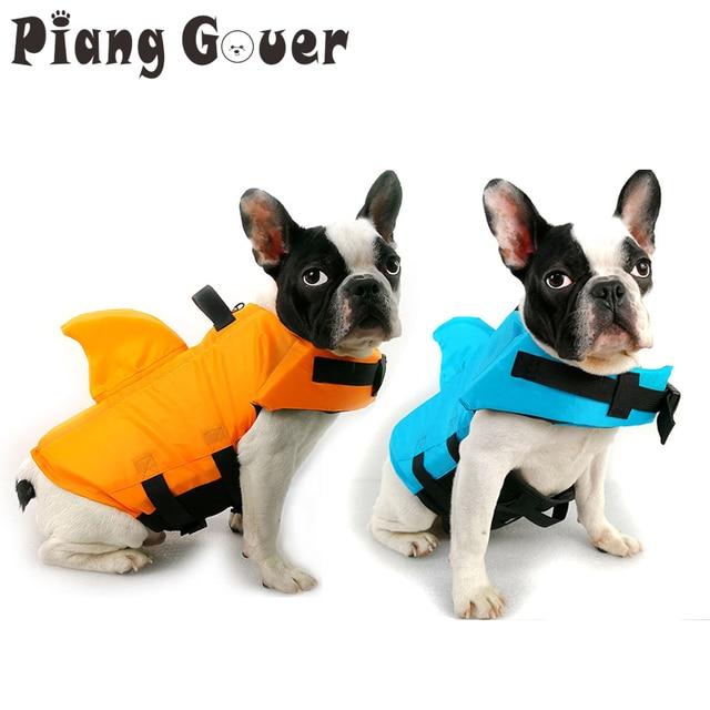 Спасательный жилет для собаки Лето Акула спасательный жилет для домашнего животного безопасности собаки одежда жилет для собак безопасность домашних животных плавательный костюм