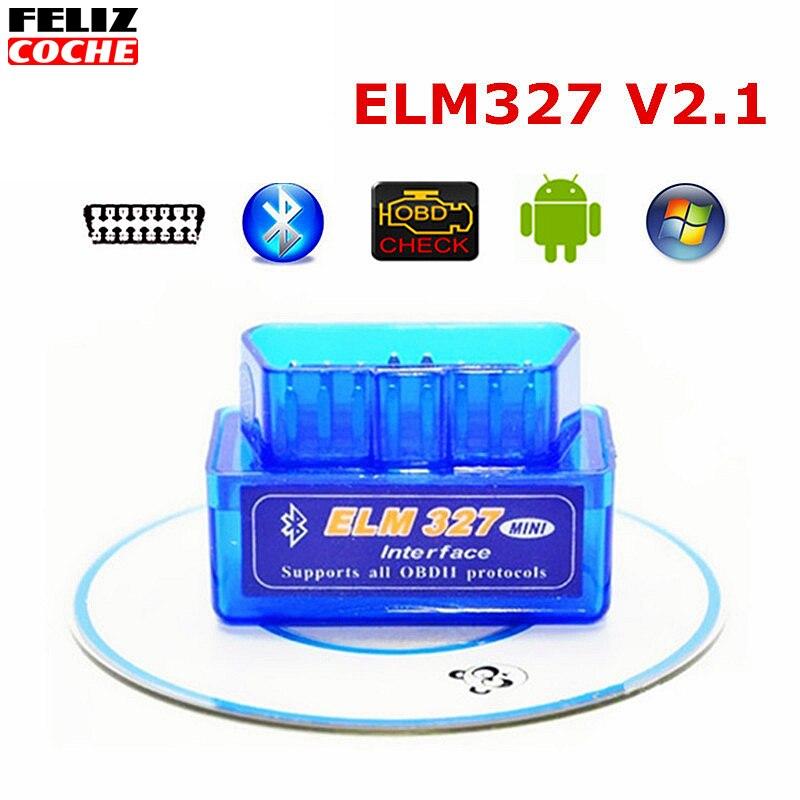 Prix pour 2017 Mini ELM327 Auto Scanner ELM 327 Bluetooth OBD2 pour Android Couple Protocoles Voiture V2.1 Véhicule Scan Outil De Diagnostic A8888