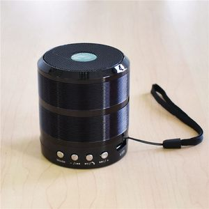 Image 4 - Altavoz bluetooth inalámbrico, mini altavoz metálico portátil de sonido subwoof con micrófono, tarjeta TF, radio FM, AUX, MP3, altavoz para reproducir música