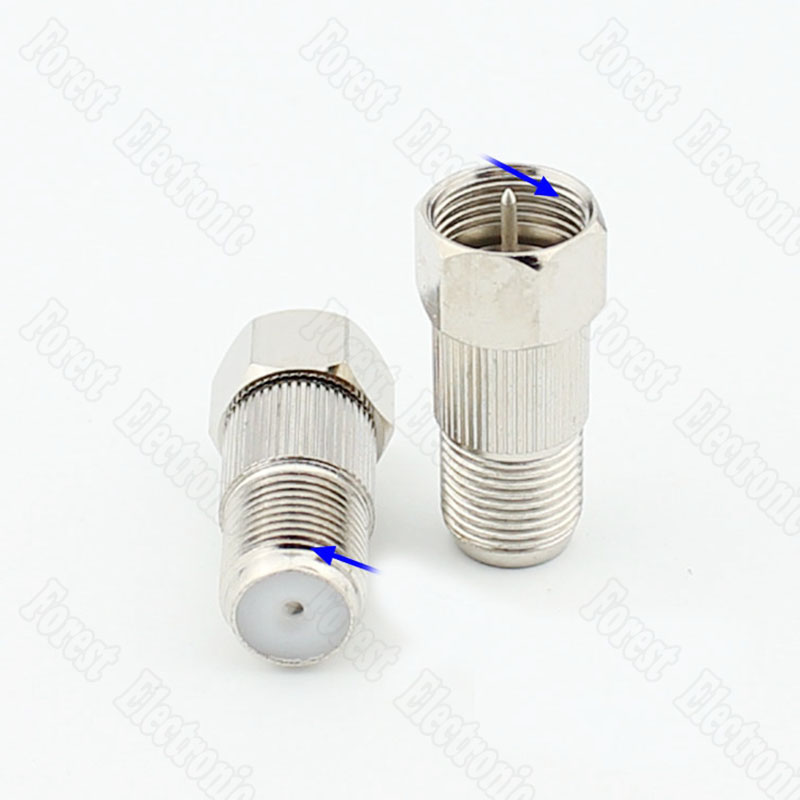 F Head Metric Male To Imperial Female Connector Internal/External Thread Adapter Connector male female connector male connector male f connector - title=