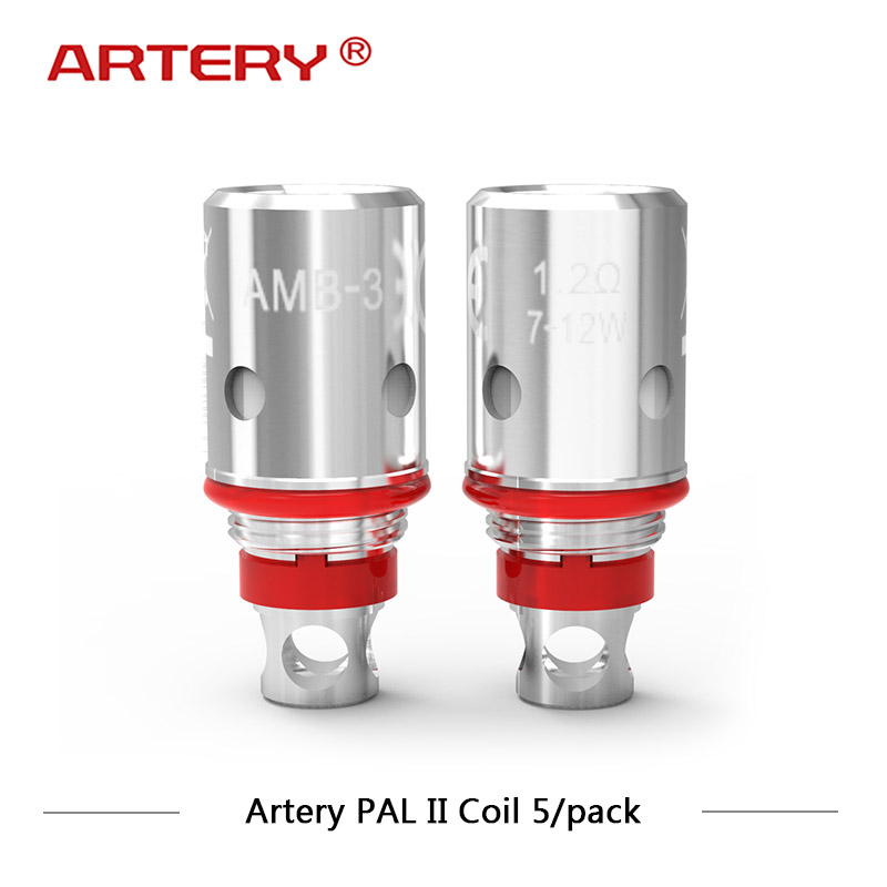 5pcs/lot Artery Pal II Replacement Coil 1.2ohm MTL Coils 0.6ohm Mesh Coils for Artery Pal II Pod Starter Vape Head5pcs/lot Artery Pal II Replacement Coil 1.2ohm MTL Coils 0.6ohm Mesh Coils for Artery Pal II Pod Starter Vape Head