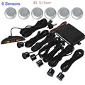 LED display monitor Parking Sensor Special for Car Reverse Backup Radar Sensors with 6 Sensors 44 colors to choose