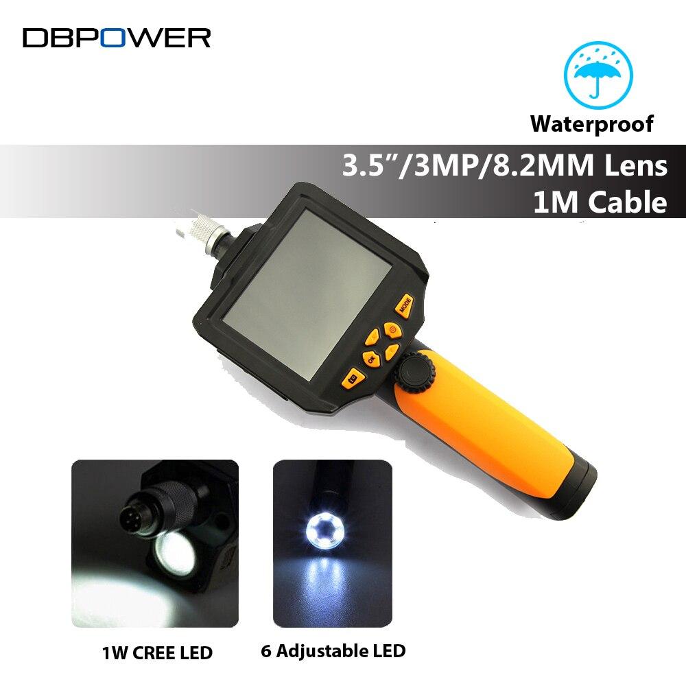 """bilder für 3,5 """"LCD Wasserdichte Endoskop Kamera 8,2mm 1 Meter Sonde Endoskop Zoom Drehen Flip Wasserdichte Video Endoskop"""