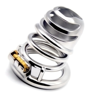 2019 Newest Stainless Steel Chastity Device Male Penis Cage Bondage Bird Lock Rings Chastity Cage Sex Products for Men G260B