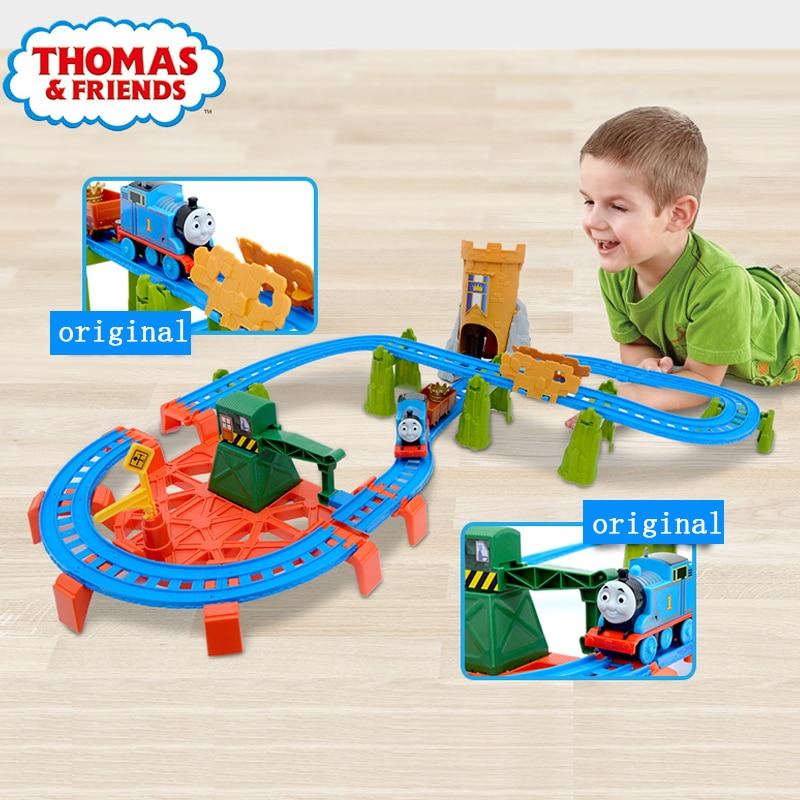 Original Brand Thomas and Friends Carros diecast Track Model Cars Train Kids Plastic Metal toys cars For Children Juguetes цена