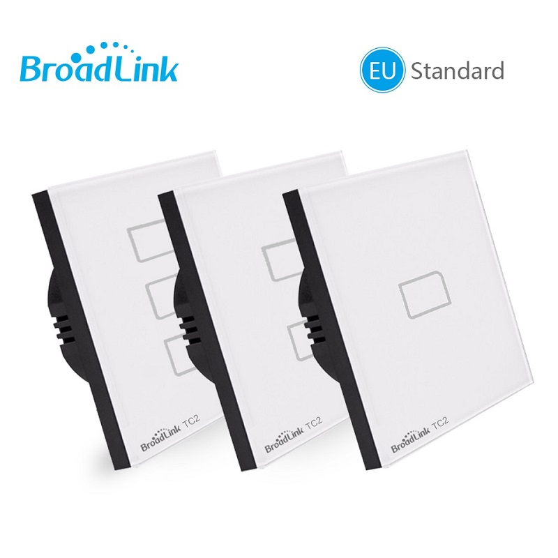 Broadlink TC2 EU Standard 1 2 3 gang Optional,mobile Remote light  lamp wall Switch via broadlink rmpro,Crystal Glass,domoticatc2  eubroadlink tc2 3 gangtc2 3 gang